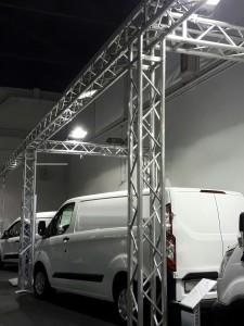 Stand a ring in americana per allestimento fieristico - service audio, luci e video per eventi - Padova