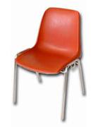 VIOLA 3 - sedia monoscocca rossa