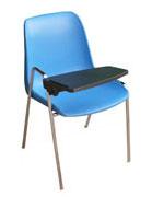 VIOLA 4 - sedie monoscocca blu con tavoletta // noleggio sedie con scrittoio