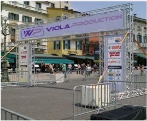 Portali per eventi sportivi - service audio, luci e video per eventi - Padova