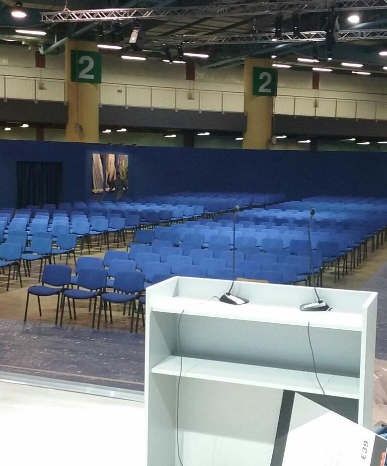 Sedie imbottite per conferenza