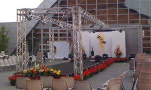 Sfilate di moda all'aperto - service audio, luci e video per eventi - Padova