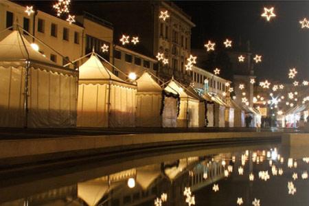 Gazebo per mercatini di Natale